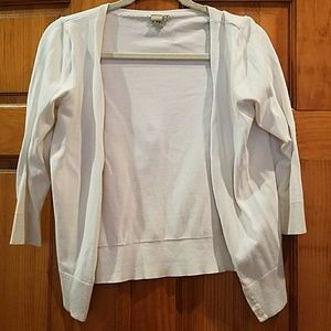 White 3/4 quarter sweater